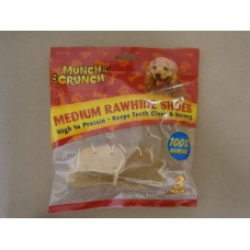 (72) Munch and Crunch Rawhide Shoes Medium 3pk
