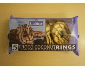 (9) Cabico Coconut Rings Chocolate  5 pack
