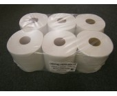 (81) Centre Feed 2ply 125 Metre White Econmy Rolls