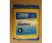 (8011) Duzzit 5 pk Large Dusters soft & strong