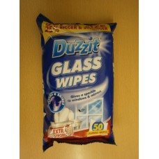 (801) Duzzit Wipes Glass 50 Jumbo Wipes
