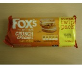 (898) Foxs Twin pack Crunch Creams Golden  .76p