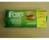 (898) Foxs Twin pack Crunch Creams Ginger  .76p