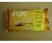 (898) Foxs Twin pack Crinkle Crunch Butter  .76p