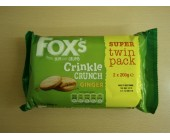 (898) Foxs Twin Pack Crinkle Crunch Ginger 400g