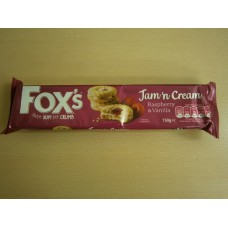 (898) Foxs Jam n Cream Biscuits 150g