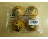 (9) Grays Chocolate Chip 4 pack Muffins
