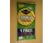 (89) 1A Jacobs Crinklys Cheese & Onion 6 for 5 pack Now packed in 12
