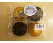 (9) Grays 4 pack Assorted Muffins
