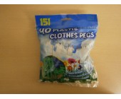 (801) Pegs Plastic Clothes Pegs 40 pk