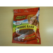 (72) Munch and Crunch Rawhide Ears Smoky Flavour 3pk