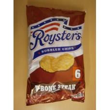 (89) 1A Roysters Bubbled Chips T-Bone Steak 6 pack