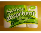 (81) So Absorbent Kitchen Towel 3 pk 3 ply